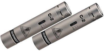 זוג מיקרופונים Behringer- C-2 לבמה ציוד הגברה ותאורה