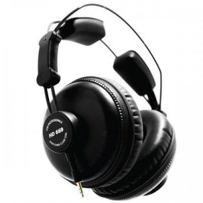 אוזניות אולפן מקצועיות - SUPERLUX HD669 לבמה ציוד אולפן ודי ג'י