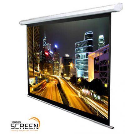 """מסך הקרנה חשמלי 150"""" (Jeason Screen - HD (16:9 לבמה ציוד וידאו והקרנה"""