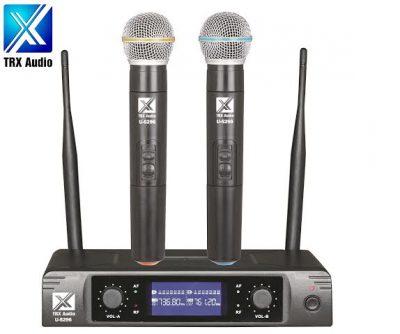 זוג מיקרופונים אלחוטיים מבית TRX Audio U-5296 לבמה ציוד הגברה