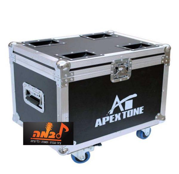 קייס ל-4 פנסים Apextone CASE SPOT68 לבמה ציוד הגברה ותאורה