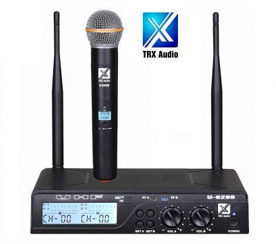 מיקרופון אלחוטי TRX Audio U-6098 עם תדר משתנה לבמה ציוד הגברה ותאורה