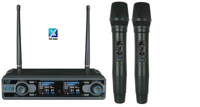 זוג מיקרופונים אלחוטיים TRX Audio X5000 עם תדר משתנה לבמה ציוד הגברה