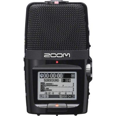מכשיר הקלטה Zoom H2n לבמה ציוד הגברה ואולפן