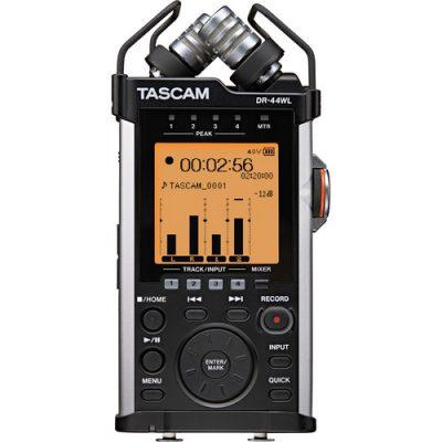 מכשר הקלטה Tascam DR-44WL לבמה ציוד הגברה ואולפן