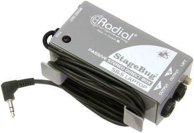 קופסת DI פסיבי יעודי למחשבים ניידים Radial StageBug SB-5 DI
