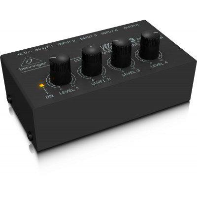 מיני מיקסר 4 ערוצים - Behringer Micromix MX400 לבמה ציוד הגברה ותאורה