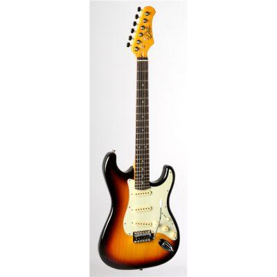 גיטרה חשמלית Eko S300-V Vintage Sunburst לבמה כלי נגינה