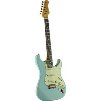 גיטרה חשמלית EKO – S-300 Relic Daphne Blue