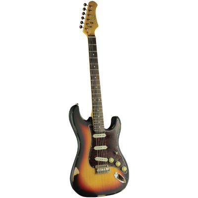 גיטרה חשמלית EKO – S-300 Relic Sunburst לבמה כלי נגינה