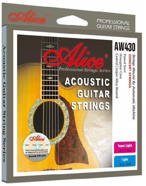 סט מיתרים לגיטרה אקוסטית Alice AW430-SL לבמה כלי נגינה