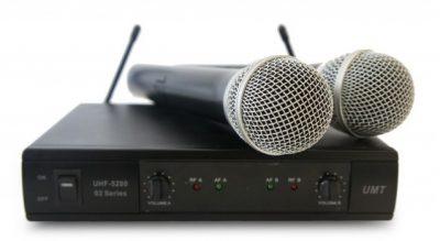 זוג מיקרופונים אלחוטים Star voice UHF-5200