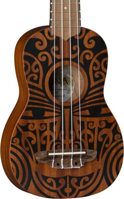 יוקללה סופרן עם עיטורים שבטיים Luna Guitars Tribal Mahogany - לבמה ציוד הגברה ותאורה
