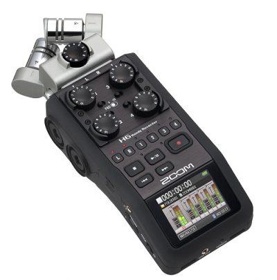 מקליט אודיו דיגיטלי Zoom H6 - לבמה ציוד הגברה ותאורה בע״מ