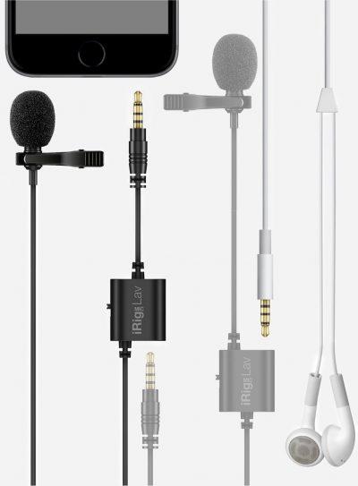 מארז זוג מיקרופוני דש זעירים iRig Lav2P מבית IK Multimedia - לבמה ציוד הגברה ותאורה בע״מ