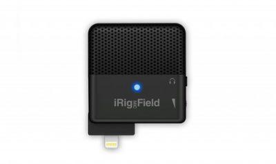 מיקרופון סטריאופוני נייד iRig Mic Field למכשירי אפל מבית IK Multimedia - לבמה ציוד הגברה ותאורה בע״מ