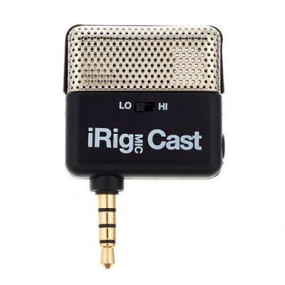 מיקרופון קונדנסר נייד iRig Mic Cast למכשירים חכמים מבית IK Multimedia - לבמה ציוד הגברה ותאורה בע״מ