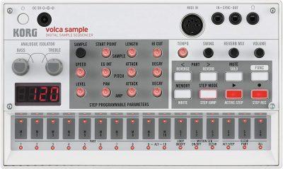 סאמפלר sequencer אנלוגי Korg Volca Sampler - לבמה ציוד הגברה ותאורה בע״מ