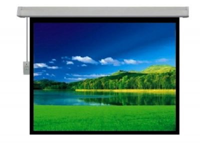 """מסך חשמלי למקרן 132X234 ס""""מ SinoScreen E132X234 - לבמה ציוד הגברה ותאורה בע״מ"""