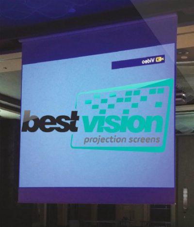 מסך הקרנה חשמלי ברוחב 5 מטר Best Vision Large - לבמה ציוד הגברה ותאורה בע״מ