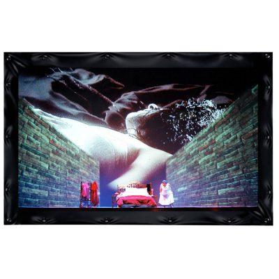 מסך הקרנה קבוע ברוחב 4 מטר Best Vision CineFrame - לבמה ציוד הגברה ותאורה בע״מ