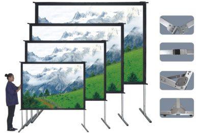 """מסך קיפול מהיר להקרנה קדמית או אחורית 152X203 ס""""מ SinoScreen FL203X152 - לבמה ציוד הגברה ותאורה בע״מ"""