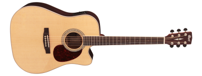 גיטרה אקוסטית מוגברת עם גימור מבריק Cort MR720F NAT - לבמה ציוד הגברה ותאורה בע״מ
