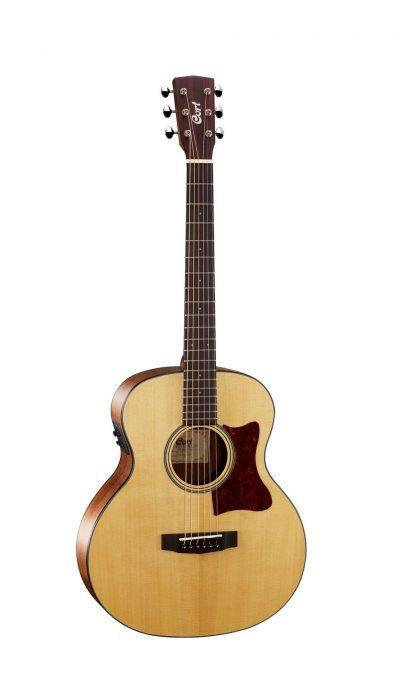 גיטרה אקוסטית מוגברת + נרתיק Cort Little CJ Walnut OP - לבמה ציוד הגברה ותאורה בע״מ