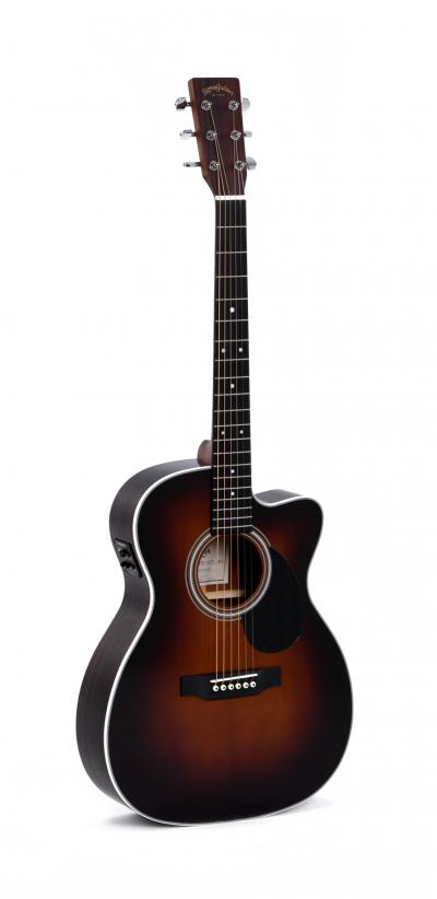 גיטרה אקוסטית מוגברת Sigma OMTC-1STE-SB CUT AWAY - לבמה ציוד הגברה ותאורה בע״מ
