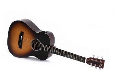גיטרה אקוסטית מוגברת + נרתיק Sigma TT-12E-SB - לבמה ציוד הגברה ותאורה בע״מ