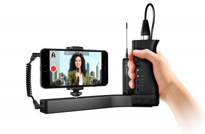 זרוע עגינה מייצבת iKlip A/V לטלפונים חכמים מבית IK Multimedia - לבמה ציוד הגברה ותאורה בע״מ