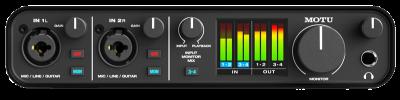כרטיס קול Motu M4 Audio Interface-לבמה ציוד אולפן