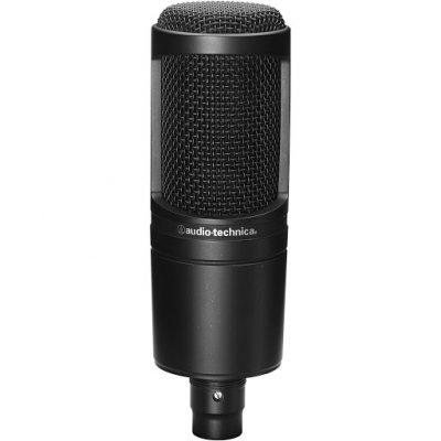 מיקרופון קונדנסר אולפני Audio Technica AT2020 - לבמה ציוד הגברה ותאורה בע״מ