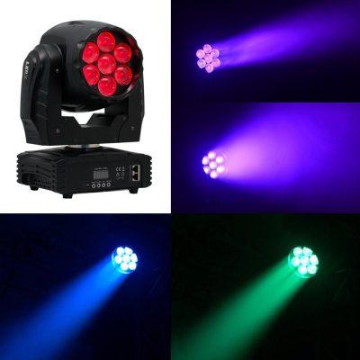 פנס מובינג לד זום 7x15w-RGBW לבמה ציוד תאורה