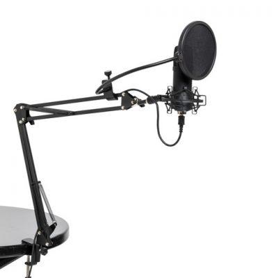 סט מיקרופון קונדנסר USB + סטנד ואביזרים Stagg SUM45 SET - לבמה ציוד הגברה ותאורה בע״מ